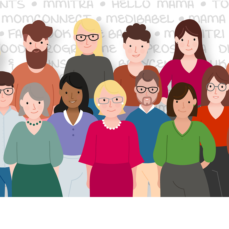 Cartoon illustration of Thrive staff